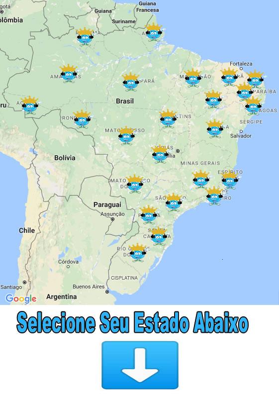 Mapa Locais de Atendimento Brasil