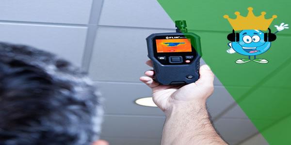 Como funciona Detector de umidade para Localizar vazamentos